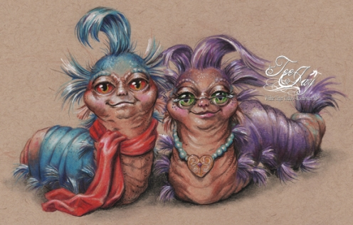 mr and mrs labyrinth worm