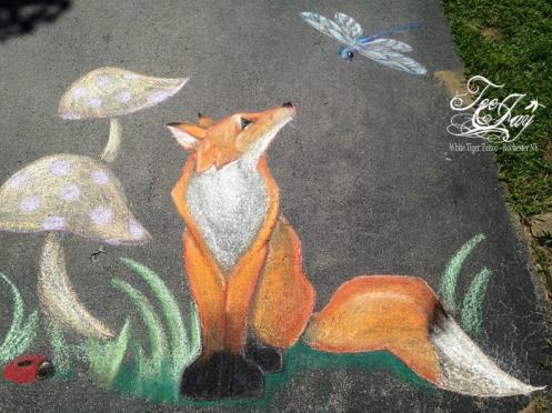 sidewalk fox