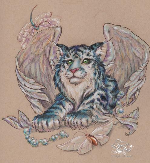 winged blue tiger