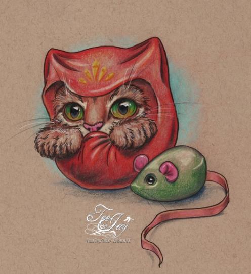 Daruma Cat