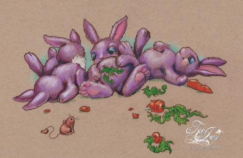 Carrot binge aftermath bunnies