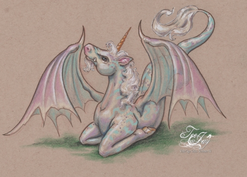 Unicorn Dragon drawing