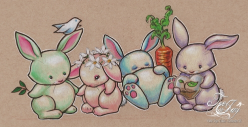 four bunnies of the niceties