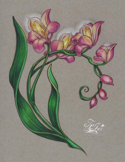 edison bulb orchid