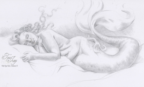 silverpoint mermaid
