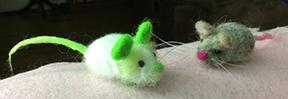 needle felted mice