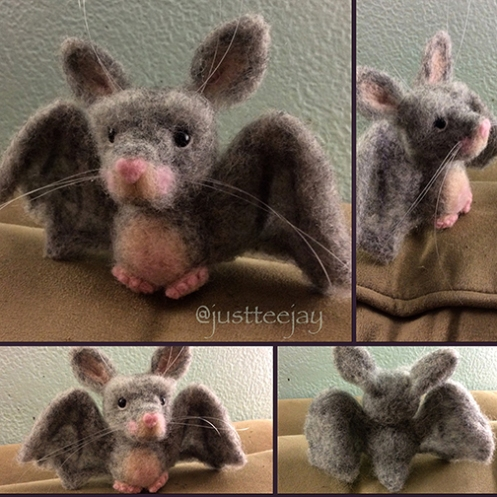 needle felted bat