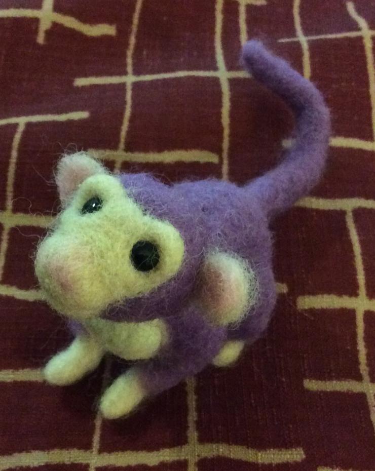 needle felted monkey
