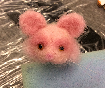needle felted trouser mouse