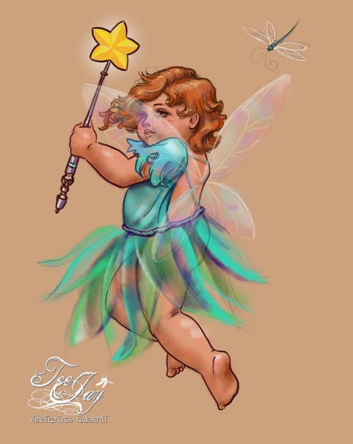 fairy drawing on iPad
