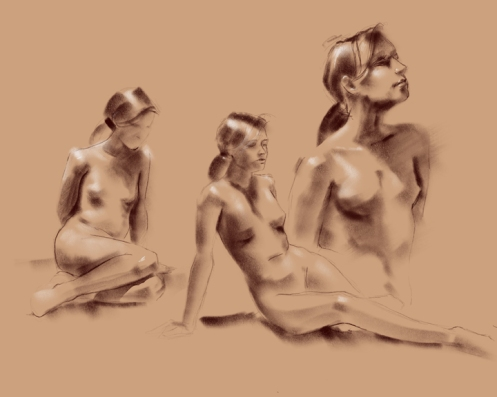 figure drawing on iPad