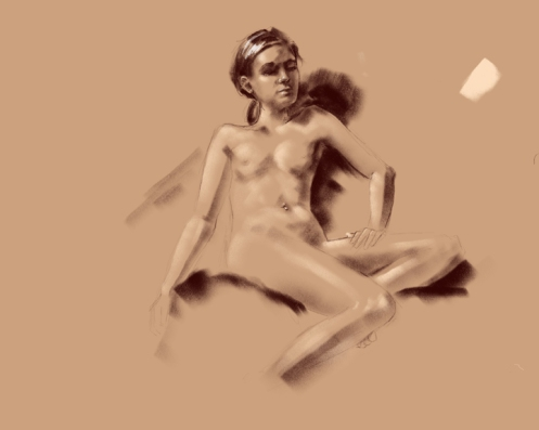 figure drawing iPad