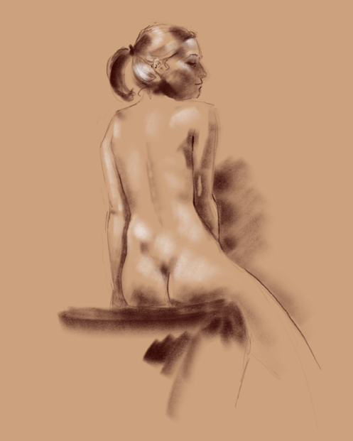 figure drawing back