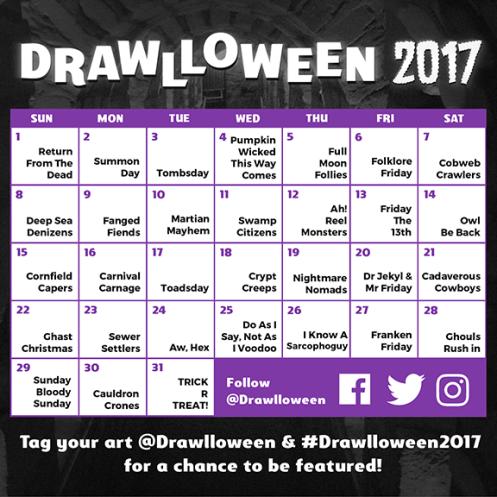drawlloween prompts 2017