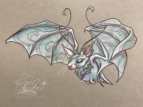 lady death fan bat
