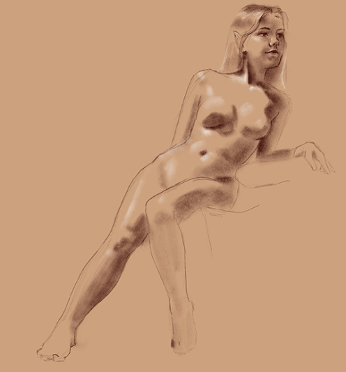 life drawing elf