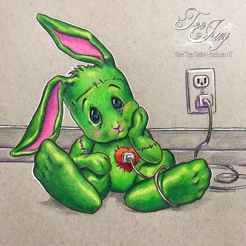 frankenBunny recharging