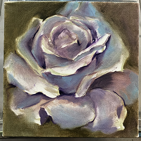 rose underpainting