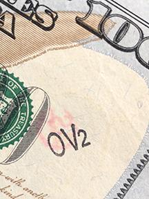 OV2 stamp on $100