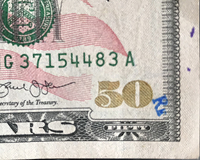 Rm or Rk stamped on bill