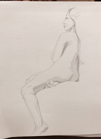 figure drawing silverpoint