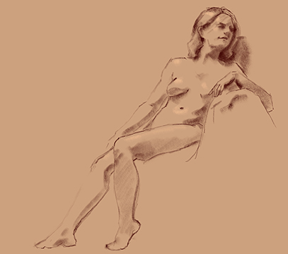 figure study female in chair