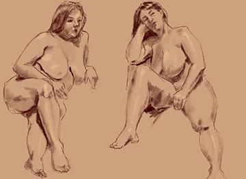15 minute drawings female model