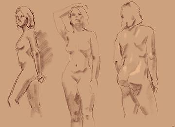gesture drawings - female model