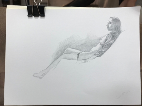 figure drawing silver point
